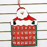 Clearance Tuscom Christmas Santa Claus Calendar,for Hotel Lobby Family Pendant Christmas Decorations,41x29cm (Red)