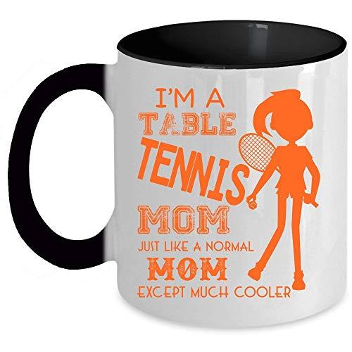 Cool Mom Coffee Mug, I'm A Table Tennis Mom Accent Mug (Accent Mug - Red) - Mug 11 oz accent mug - black