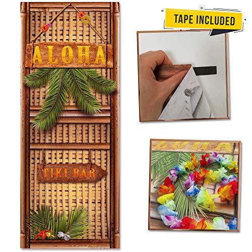 Luau Hawaiian Door Cover Set - XL 30