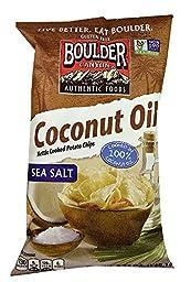 Boulder Canyon Coconut Oil Kettle Cooked Potato Chips Sea Salt -- 5.25 oz (Pack of 2)