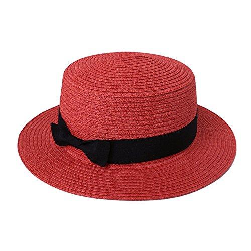 (Rankei New Fashion Summer Hat Cap Sun Visor Cap Summer Casual Ladies Wide Brim Beach Sun Hat Female Straw Hat Wholesale Straw Cap,C)