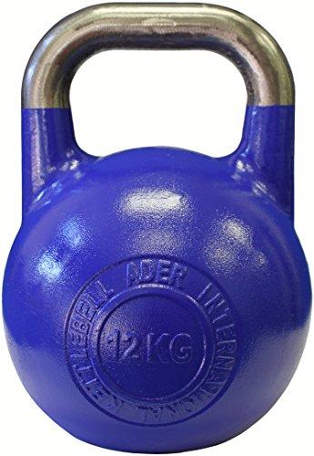 Ader Pro-Grade Int'l Kettlebell (12KG/26LB Navy Blue) (Competition Kettlebell 12 Kg)