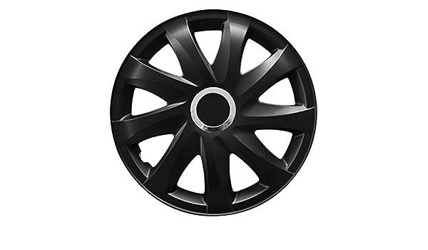 (tamaño a elegir) Tapacubos/Tapacubos DRIFT (Negro Mate) apto para casi todos los tipos de vehículos (universal): Amazon.es: Coche y moto