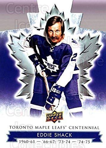 Eddie Shack Hockey Card 2017-18 Toronto Maple Leafs Centennial Die Cut #3 Eddie Shack
