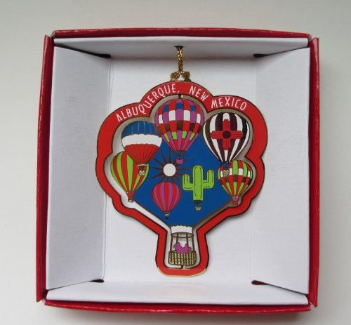 New Mexico Balloon - Albuquerque New Mexico Christmas ORNAMENT Hot Air Balloons Souvenir Gift