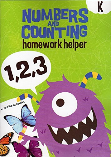 Homework Helper Educational Workbooks - Kindergarten - Numbers & Counting - v2