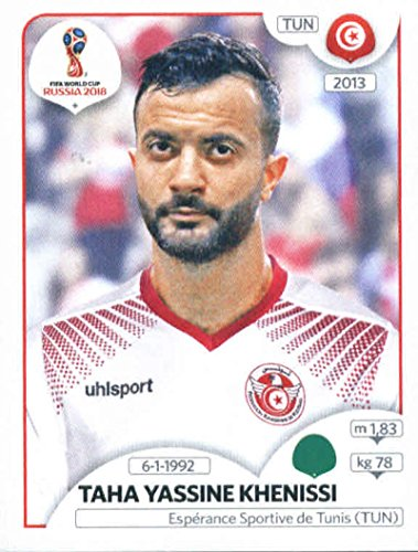 2018 Panini World Cup Stickers Russia #568 Taha Yassine Khenissi Tunisia Soccer Sticker (568 Single)