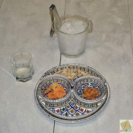 Servicio aperitivo BAKIR azul: Amazon.es: Hogar