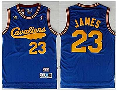 Lebron James Cleveland Cavaliers Jersey Throwback Cavs Cava Blue Size L