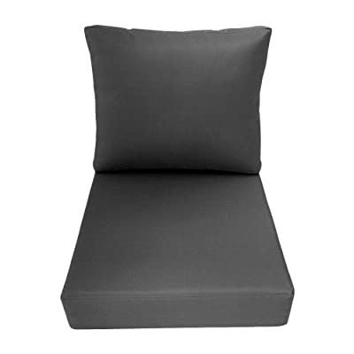 DBM IMPORTS AD003 Knife Edge Small 23x24x6 Deep Seat + Back Slip Cover Only Outdoor Polyester : Garden & Outdoor