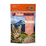 Freeze Dried Cat Food By Feline Natural - Perfect Grain Free, Healthy, Hypoallergenic Limited Ingredients For All Cats - Raw, Freeze Dried Mixer - Lamb & King Salmon - 11oz Pack