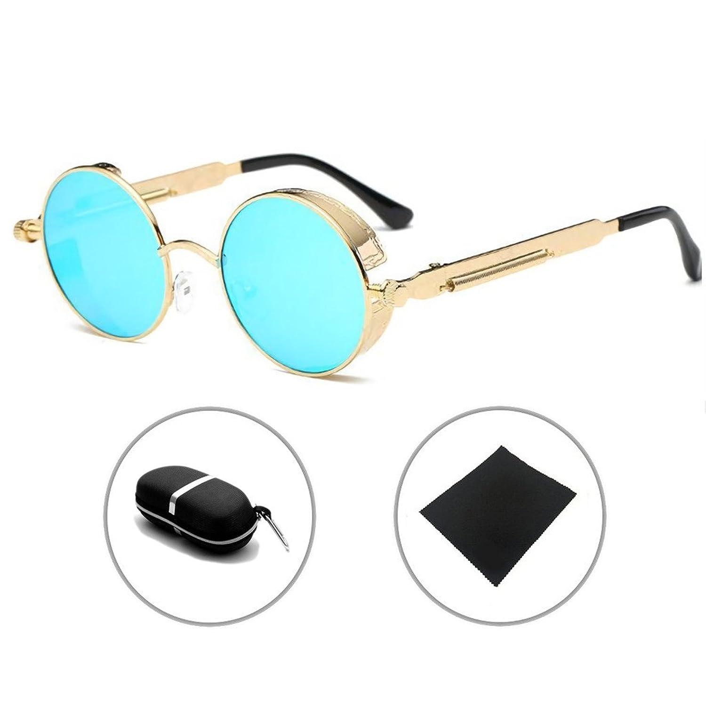 ebeece809 70% OFF Gafas de sol Metal Ronda Gótico Steampunk Hombres Mujeres Vintage  Retro UV400 Sunglasses