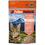Freeze Dried Cat Food Feline Natural - Perfect Grain Free, Healthy, Hypoallergenic Limited Ingredients All Cats - Raw, Freeze Dried Mixer - Lamb & King Salmon - 11oz Pack