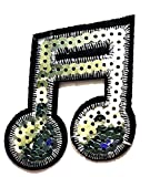 Nipitshop Patches Sequin Musical Notation Music