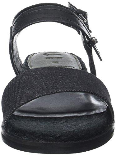 Cuña G Remi 990 Black para Espadrille Mujer Sandalias Star con Negro FwAfXqx4Ww