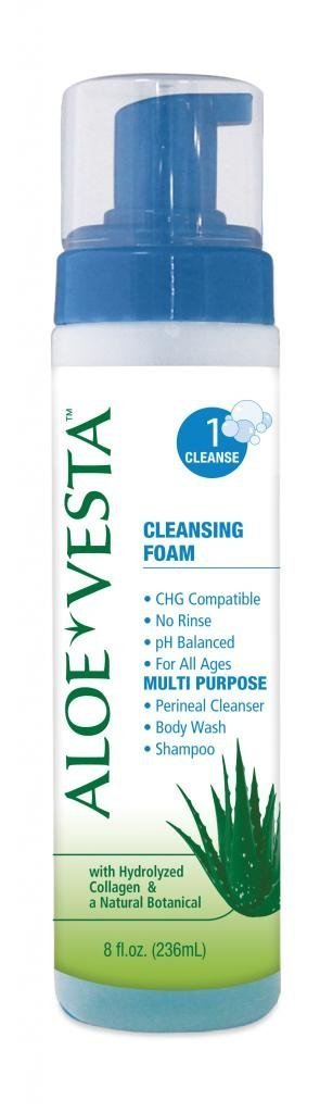Aloe Vesta 3-n-1 Cleansing Foam 8 oz, 12-Packs