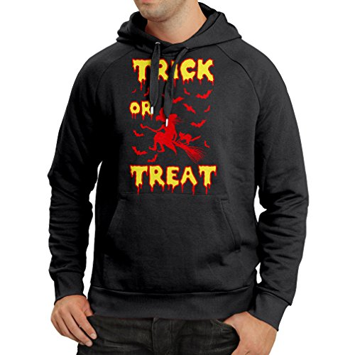 lepni.me Hoodie Trick or Treat - Halloween Witch - Party outfites - Scary Costume (Large Black Multi Color) -