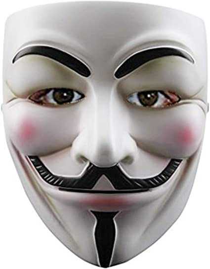 Anonymous Hacker V for Vendetta Guy Fawkes Fancy Dress Halloween Face Mask NEW