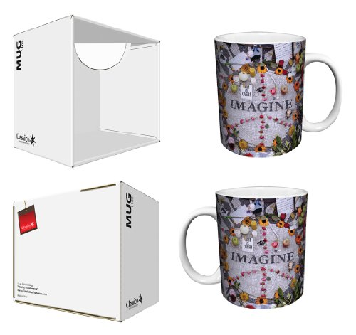 - Imagine Peace Flowers Memorabilia (John Lennon, The Beatles) Photography Decorative Art Ceramic Boxed Gift Coffee (Tea, Cocoa) 11 Oz. Mug