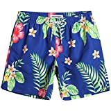 3cc0908e83 Tommy Hilfiger Men's Surfside Floral Print Swim Trunks (XX-Large ...