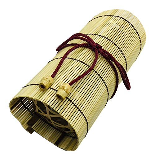 (Bamboo Japanese Lunch Box for Rice Ball Omusubi in Basket with a String 7.4 x 3.3 x 2.9 inches From Japan)