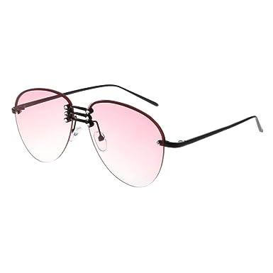 Amazon.com: Simdoc Fashion - Gafas de sol de metal, marco ...
