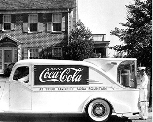 Historical Photo Collection 8 x 10 Photo Coca Cola Mobile Soda Fountain 1940s On High Qquality Fiji Film Paper