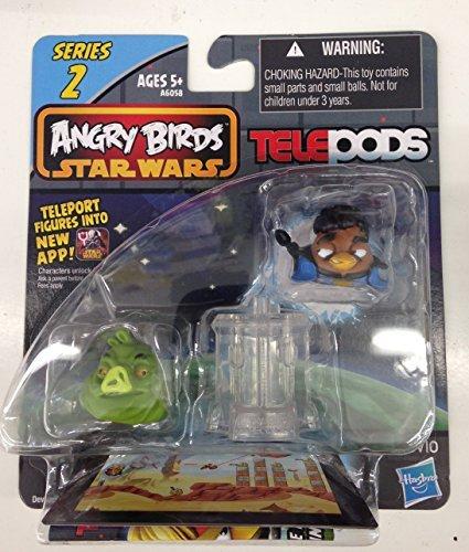 Angry Birds Star Wars Telepods Series 2 Lando Calrissian Bird & Jabba the Hutt Pig