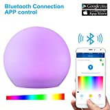 Solar LED Ball Lights Upgraded Bluetooth Control Sunwind Solar 12'' RGB Floating Globe Lamps Ideal for Home Pool Patio Party Decoration (12-Inch Ball)