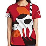 CAWHJDW Dot Cat Stickers Popular Raglan Baseball Tees Athletic Tshirt For Women