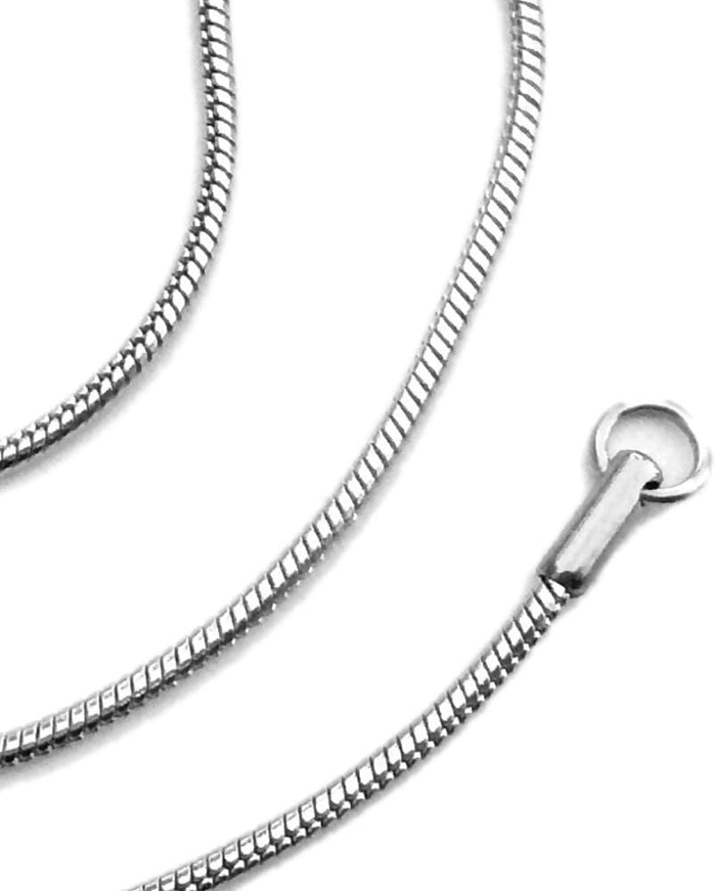 """20/"""" 2mm Stainless Steel Snake Chain Necklace 18/"""" 24/"""""""