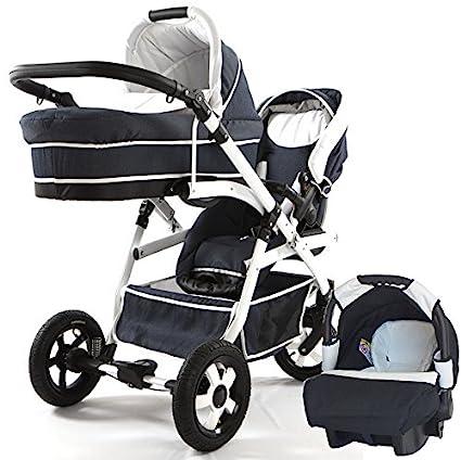 Carro doble (gemelar) niños diferentes edades. 2 sillas + 1 capazo + 1