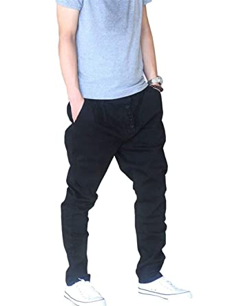 Elodiey Hombres Nner Casual Hipster De Pants Color Sólido Jogger ...