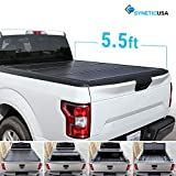 #7: Syneticusa Aluminum Hard Folding Tonneau Cover Truck Cargo Tri-Fold Bed Cover for 2004-2018 Ford F-150 F150 5.5ft Short Bed