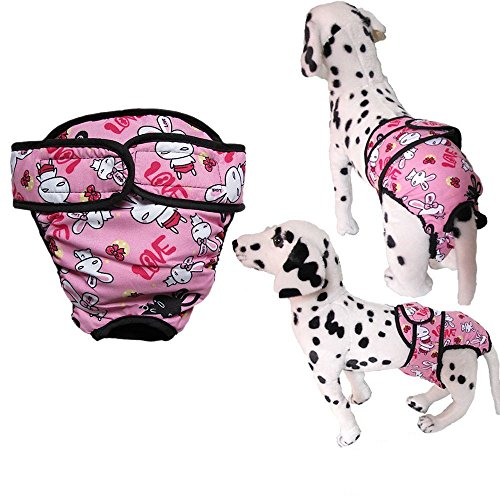 [Starsource Medium/Large Pet Girl Dog Adjustable&Washable Female Pet Dog Diaper Sanitary Pantie Hot Panty Cover Wraps,4 Colors] (Four Group Costumes)