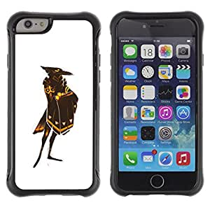Suave TPU GEL Carcasa Funda Silicona Blando Estuche Caso de protección (para) Apple Iphone 6 / CECELL Phone case / / White Raven God Bird Gold Shield /