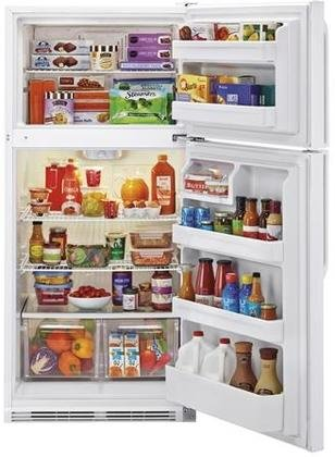 Haier HRT18RCWW 30'' Wire Shelves Top Mount Refrigerator with 18.1 cu. ft. Capacity Dual Knob Mechanical Control Clear Fresh Food Crisper in by Haier