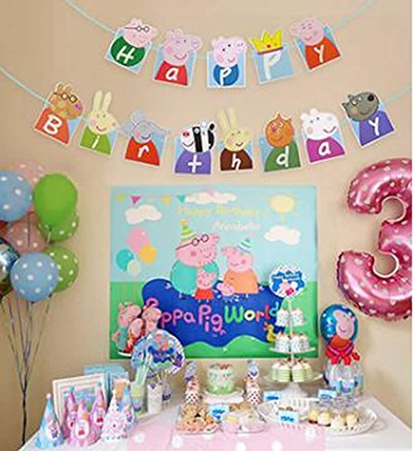 Peppa Pig Theme Party Decorative Birthday Party Supplies Decoration