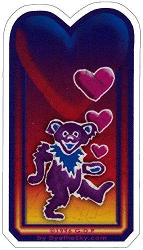 Grateful Dead Bear & Hearts - Small Sticker / Decal (1.5