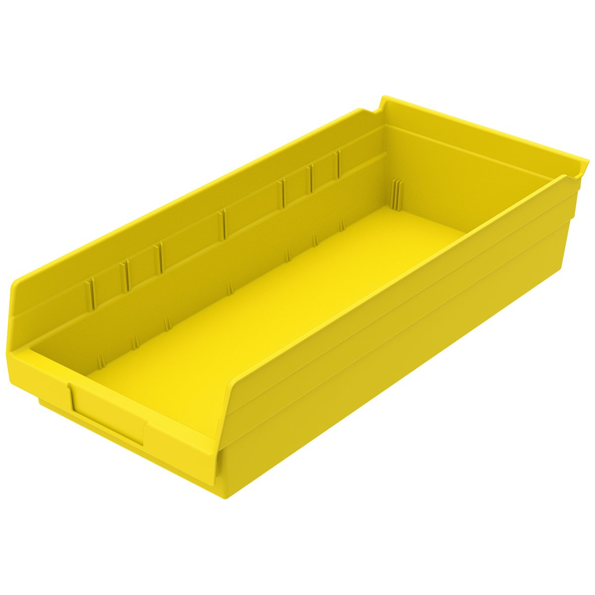 Akro-Mils 30158YELLO Shelf Bin (Case of 12), 17-7/8'' x 8-3/8'' x 4'', Yellow