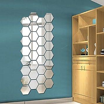 SuuncariLJJ Box Stereo Spiegel An Der Wand Kleben Schlafzimmer Wohnzimmer Deko Dekoration