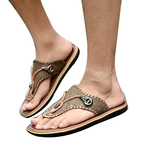 Summer Zapatos Flop Playa Zapatillas Sandalia De Calzado Negro Zapatos Diapositivas Flip ALIKEEYHombres La Suave Planos De XYqPtt