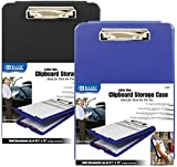 Bazic Clipboard Storage Case [12 Pieces] *** Product Description: Bazic Clipboard Storage Case. Fits Easily Into Most Briefcases Low-Profile Clip Holds Up To 100 Sheets Storage Compartment For Paper, Pens And Pencils Assorted Color Availability M ***