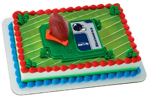 NFL Seattle Seahawks Football with Tee-Cake Decorating