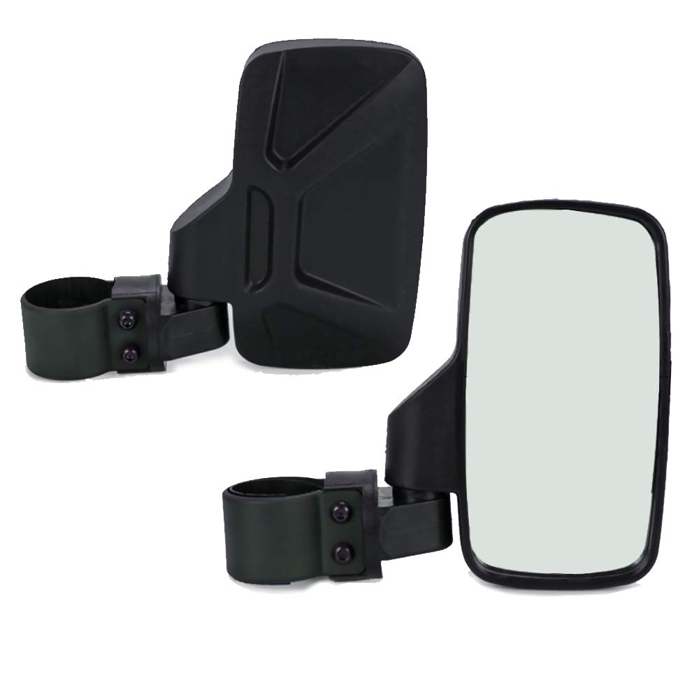 2 Inch Roll Bar Polaris RZR Yamaha with Shatter-Proof Tempered Glass BISHERDER 1 Pair 8.2 Inch UTV Side View Mirror Rear View Mirrors fit 1.75 Inch