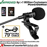 Professional Grade Lavalier Lapel Microphone ­ Omnidirectional Mic with Easy Clip On System ­ Perfect for Recording Youtube/Interview/Video Conference/Podcast/Voice Dictation/iPhone/ASMR