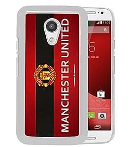For Moto G 2nd,Manchester United 9 White Case Cover For Motorola Moto G (2nd generation)