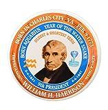 "William Harrison 9th President Pin, Astrology Aquarius Zodiac Water Snake (2.25"")"