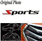 CHAMPLED 2pcs Sports Badge - Emblem Car Van Truck Metal Logo 3D - Adhesive Universal For HONDA INFINITI KIA HYNDAI DACIA DAEWOO