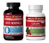 Product review for antioxidant vitamin c - GRAPE SEED EXTRACT – ANTI-WRINKLE FORMULA - grape seed extract organic - 2 Bottles Combo (30 Capsules + 60 Capsules)